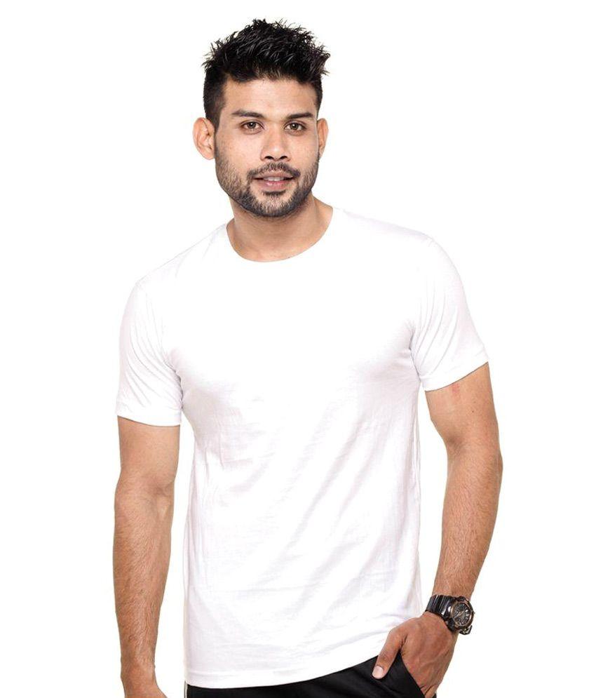 Denovo White Round T Shirts