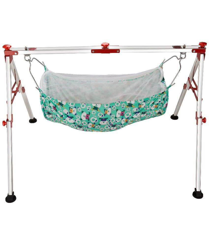 Lotus Pure Blue Stainless Steel Bassinet