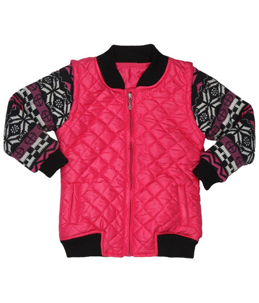 Stop by Shoppers Stop Pink Full Sleeve Padded Jackets