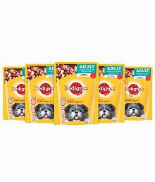 Pedigree Gravy (Adult - Dog Treat Food) Chicken & Liver Chunks, 80 Gm Pouch Pack Of 5
