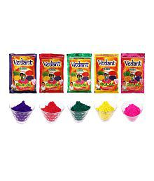 Vedant Holi 5 Packs Herbal Gulal- 100g Each