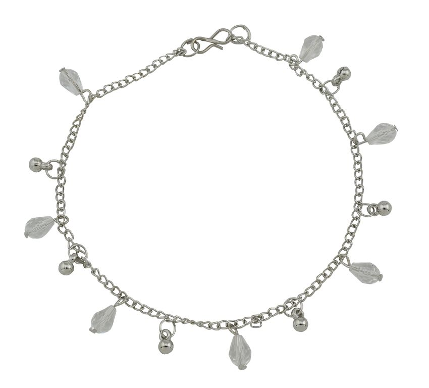 High Trendz Silver Crystalz Designer Copper Anklet