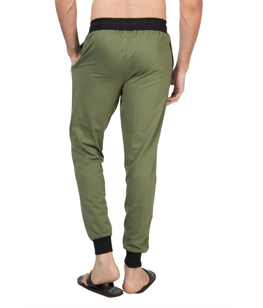 Clifton Fitness Men's Ribbed Slim Fit Track Pant -Olive