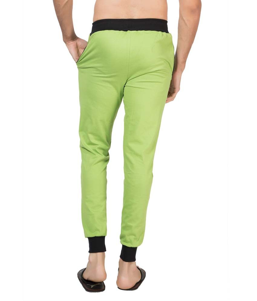 Clifton Fitness Men's Ribbed Slim Fit Track Pant -Parrot Green