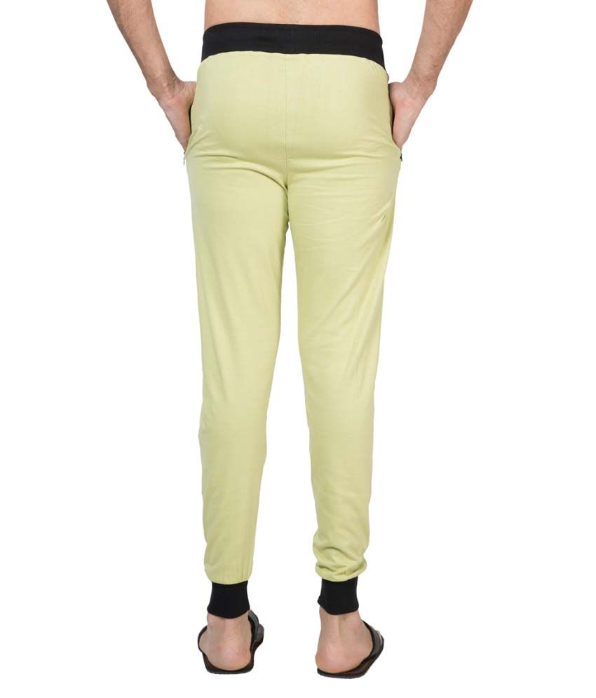 Clifton Fitness Men's Ribbed Slim Fit Track Pant -Pista