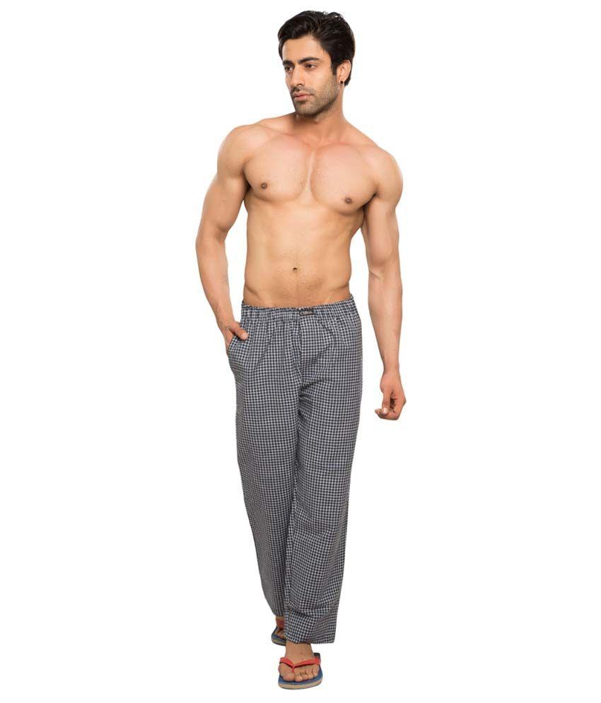 Clifton Men's Woven Pyjama -Black & Green Checks