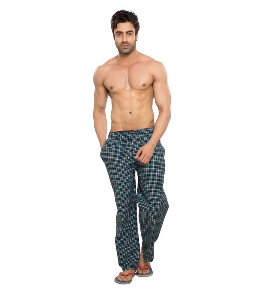Clifton Men's Woven Pyjama -Blue & Black Checks