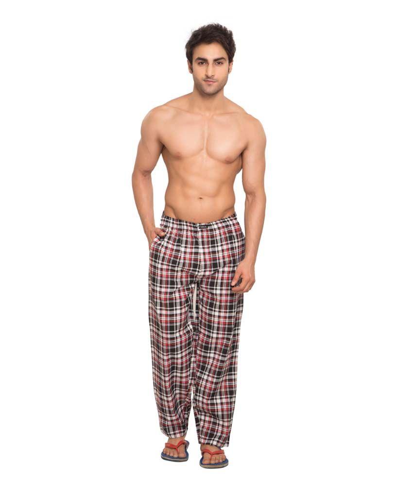 Clifton Men's Woven Pyjama -Navy & Red Checks