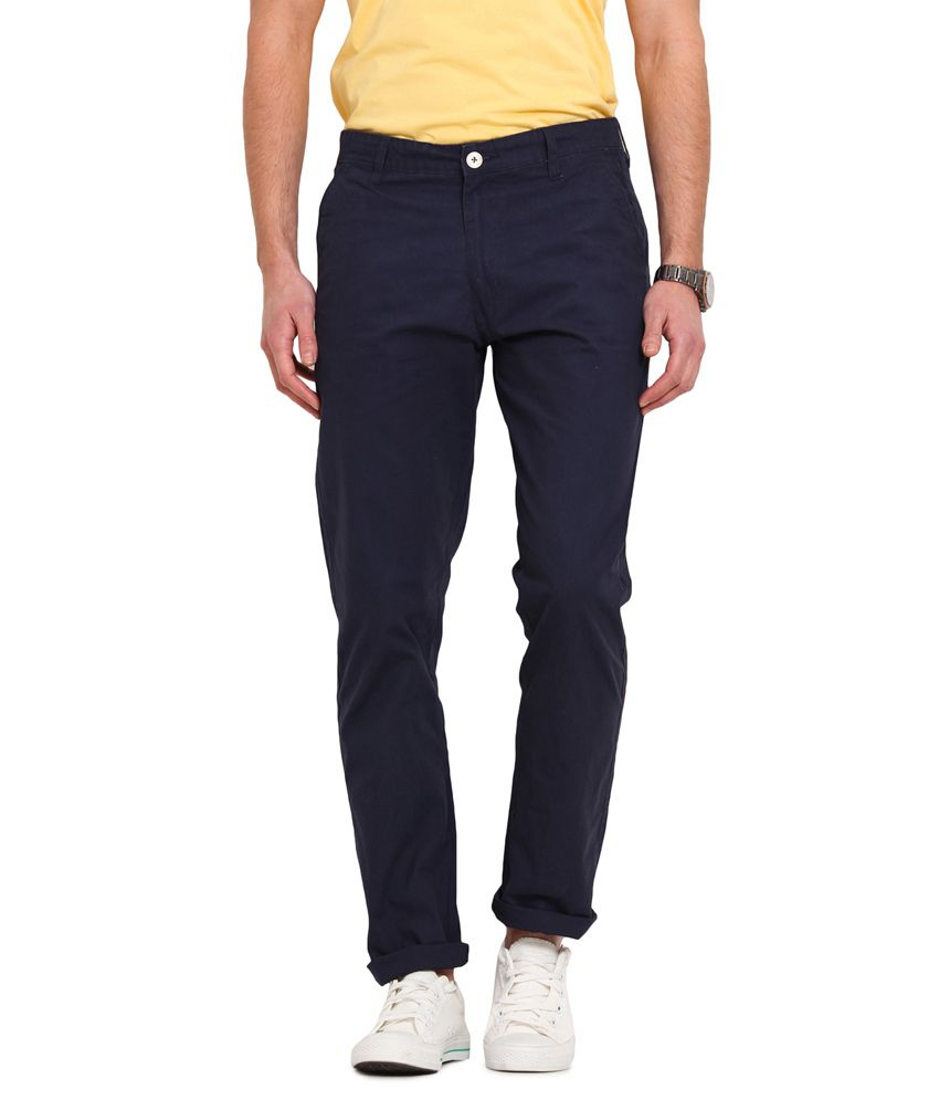 Ennoble Navy Slim Fit Chinos