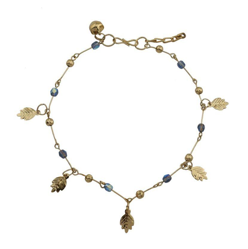 High Trendz Blue Bellz Designer Copper Anklet For Women/Girls (Single/1Pc Ank...