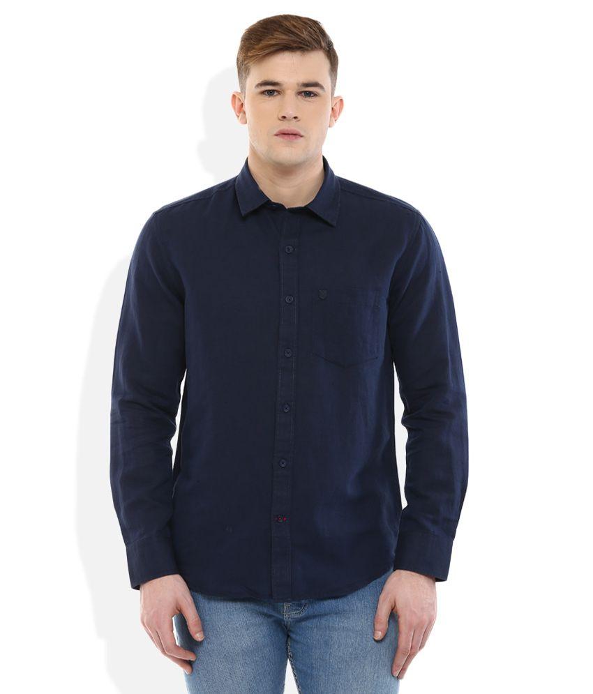Proline Navy Regular Fit Shirt