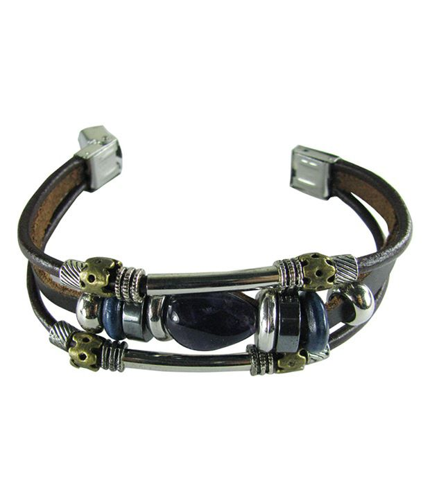 Collana Brown Faux Leather Bracelet