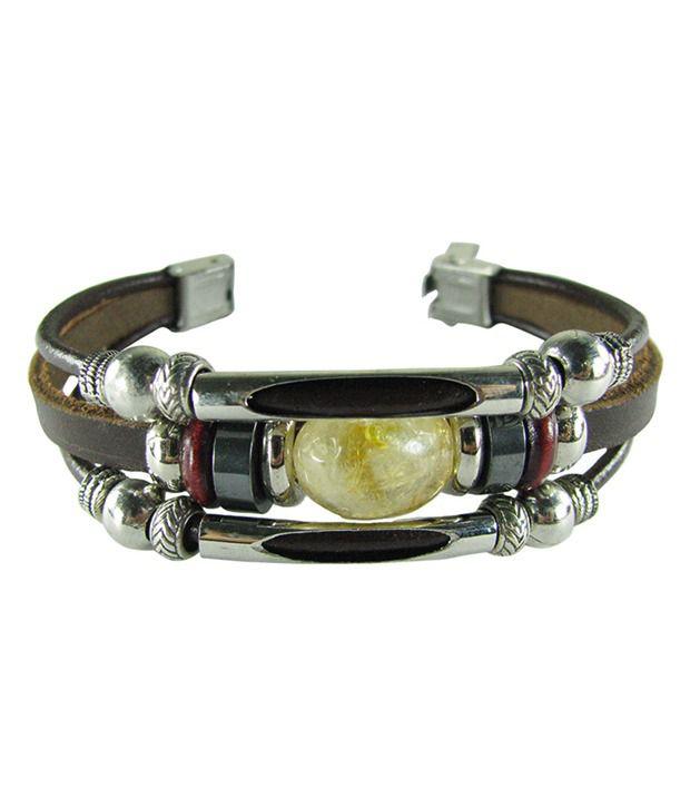 Collana Brown Faux Leather Bracelet