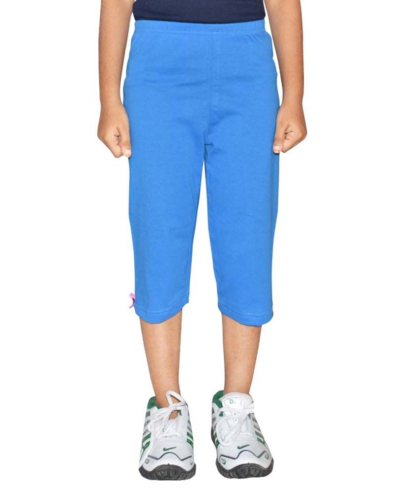Metro Collections Blue Cotton Capris