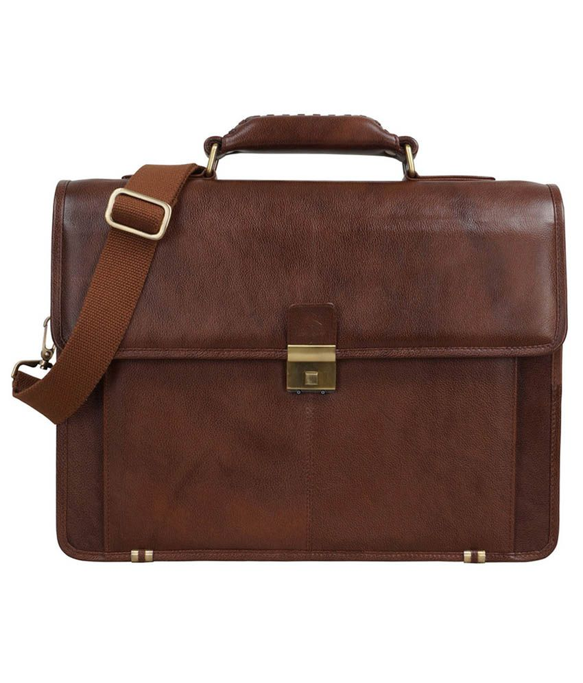 Clubb Brown Leather Messenger Bag