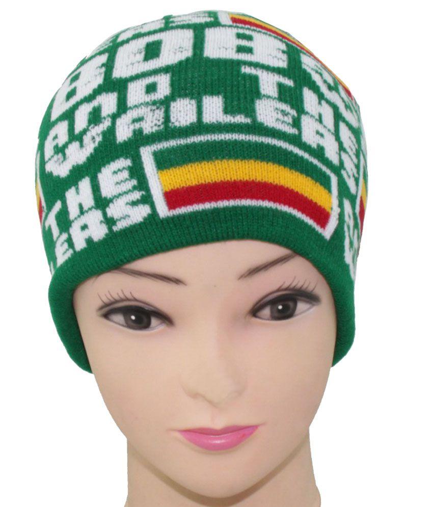 Jstarmart Multicolour Woollen Skull Cap