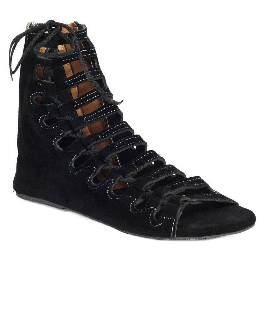 Womens sandals flipkart - Remson India Black Flat Slip On Amp Sandal Available At Snapdeal For Rs 448