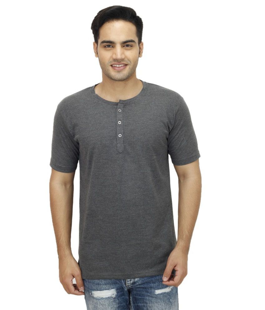 Christy's Collection Grey Henley T Shirts