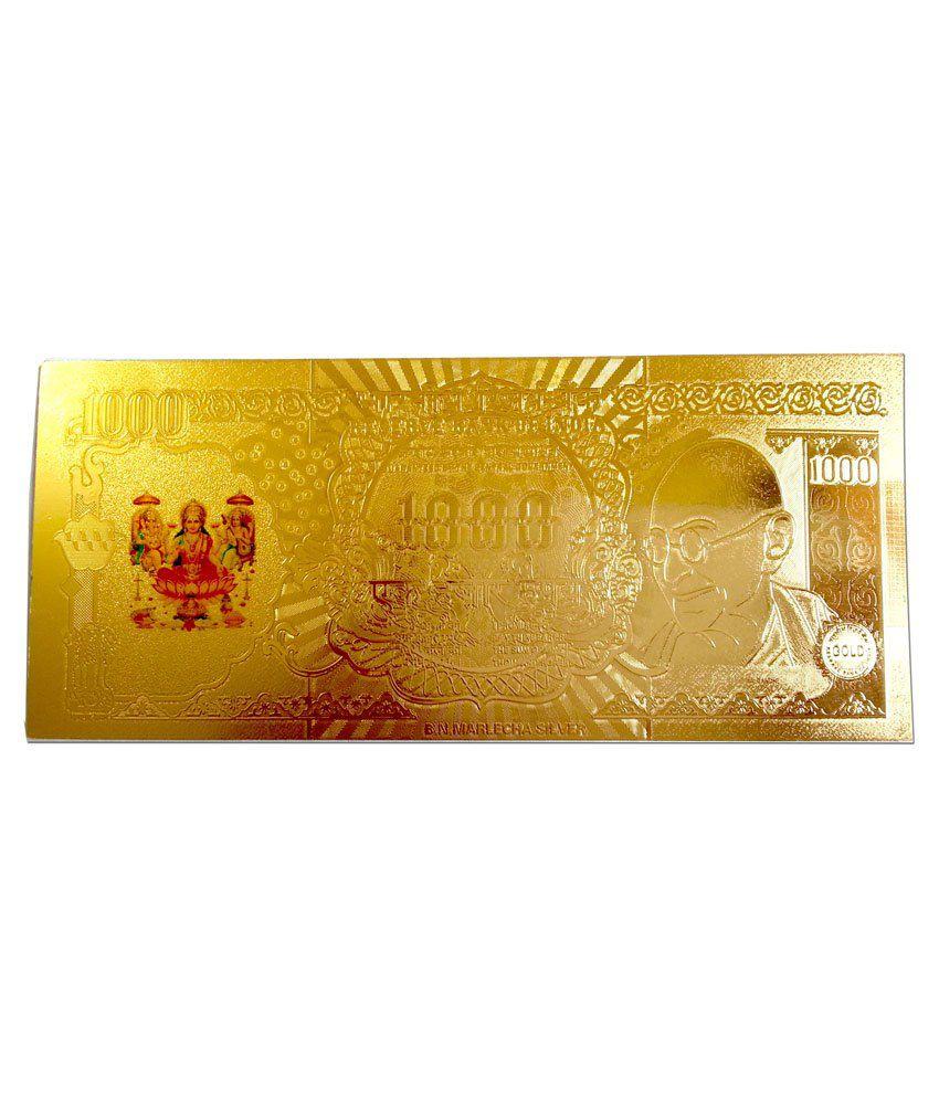 Gold Art 4 U Laxmi Ji Gold Foil Note Painting