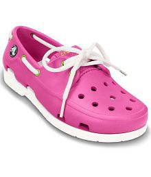 Crocs Relaxed Fit Pink Casual Shoes For Kids