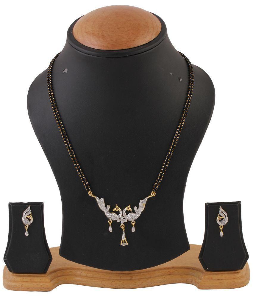 Seetara Silver Copper Mangalsutra Set