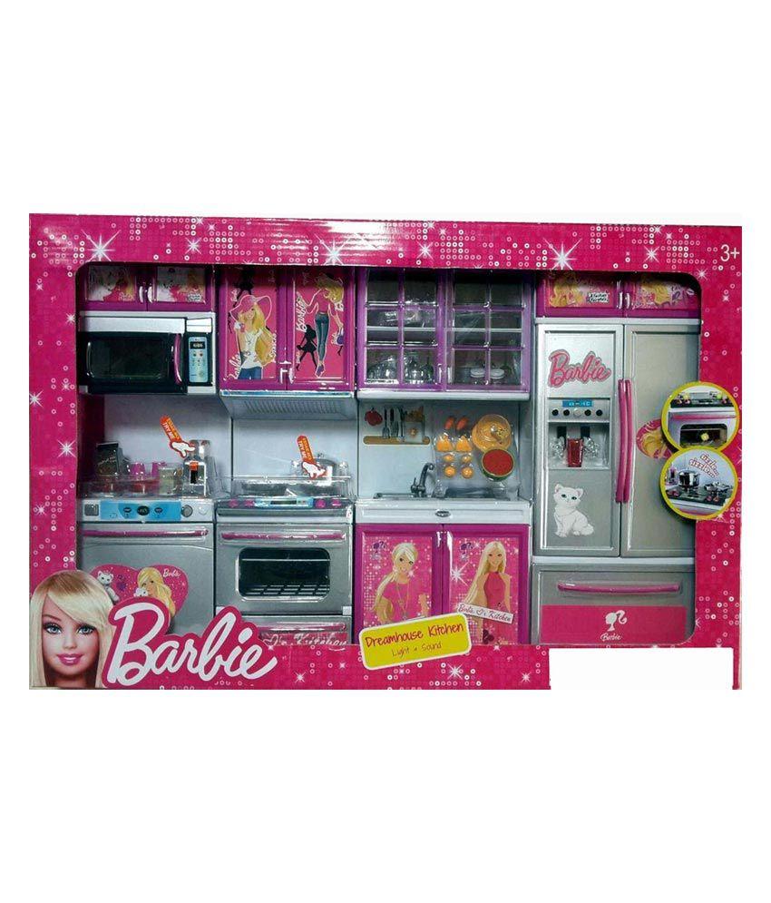 Barbie doll kitchen set online shopping india for Kitchen set india