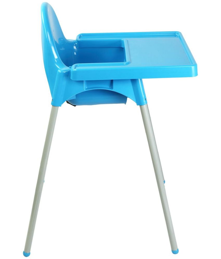 oye blue and white plastic high chair  buy oye blue and white  -  oye blue and white plastic high chair