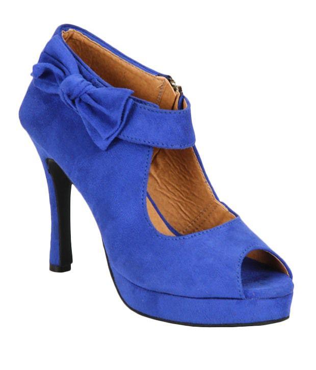 Pariz Blue Cone Heels