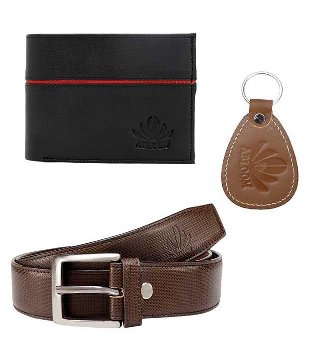 Abloom Brown PU Formal Belts