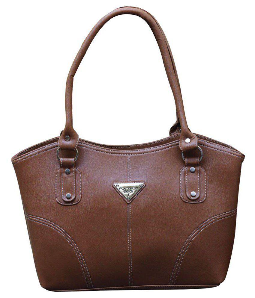 Best Deal Brown P.U. Shoulder Bag