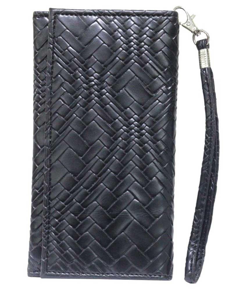 Jo Jo Flip Cover Case For Panasonic Eluga Mark -black