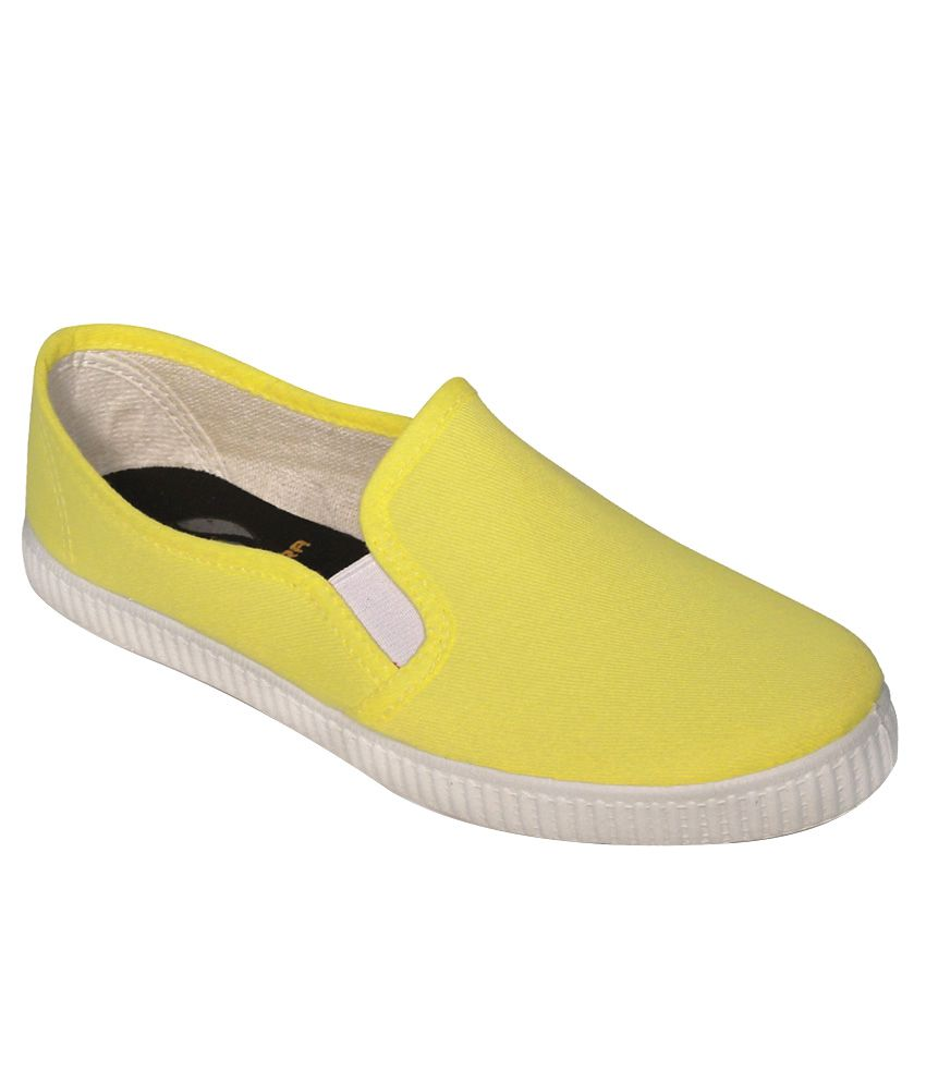 Scentra Yellow Casual Shoes