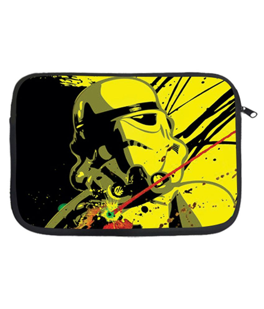 Design Worlds Splash Laptop Sleeve - Black and Yellow