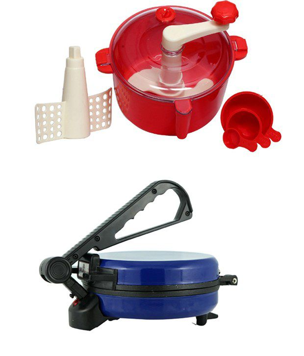 GTC Combo Of Blue Rotimaker With Red Dough Maker