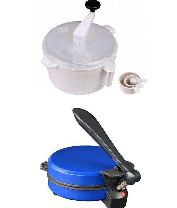 GTC Combo Of Eagle Detachable Blue Roti Maker With Dough Maker
