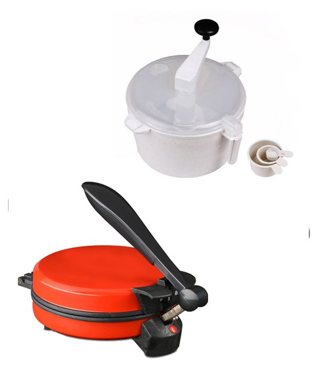 GTC Combo Of National Detachable Red Roti Maker With Dough Maker