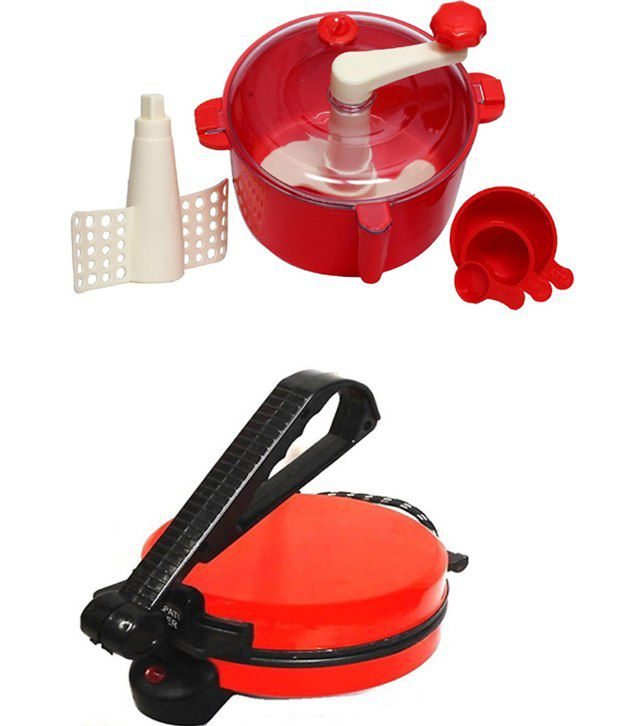 GTC Combo Of National Red Roti Maker With Red Doughmaker
