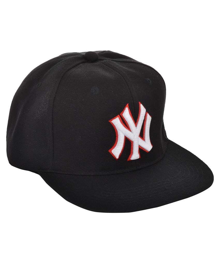 Ice Dragon Black Polyester Baseball Cap