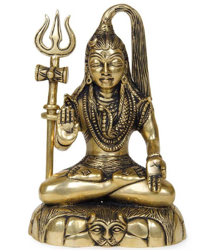 Imlistreet Golden Brass Shiva Idol