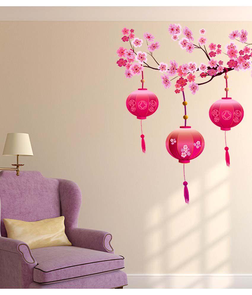 Stickerskart Multicolor Living Room Beautiful Chinese