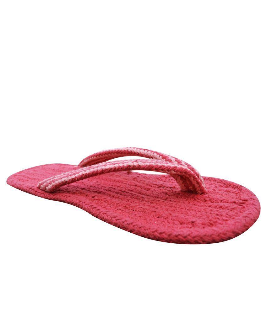 Homework Furnishings Red  Flip Flops Pack Of 2