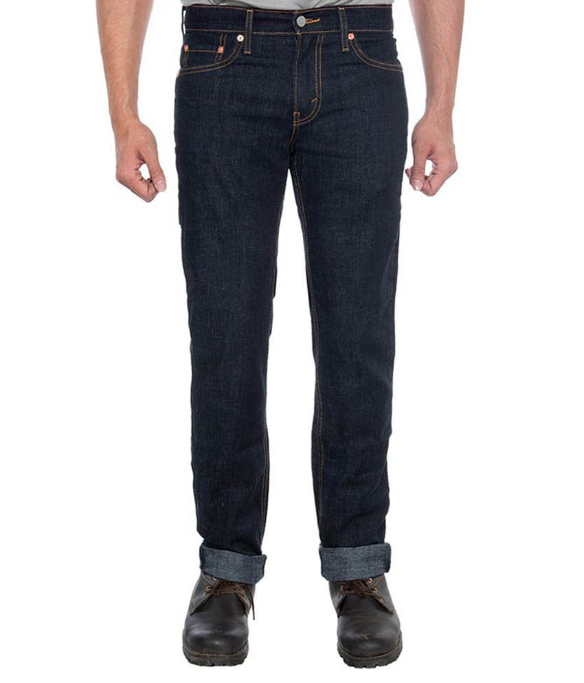 Levis Men Navy Stretchable Jeans 511