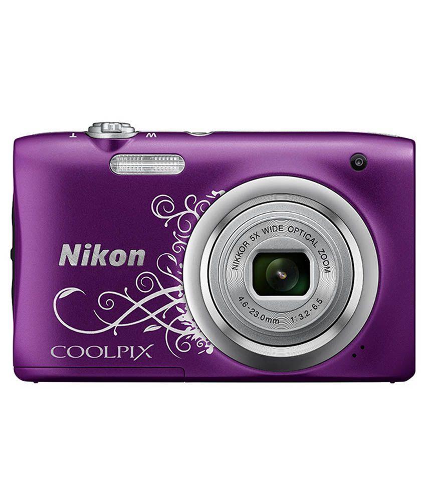 Nikon Coolpix A100 20.1MP Digital Camera - Purple