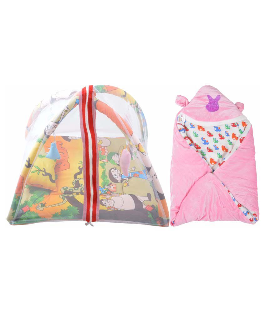 RSO Baby Bedding Mosquito Net Play Gym & Reversable Baby Wrap Set Of 2