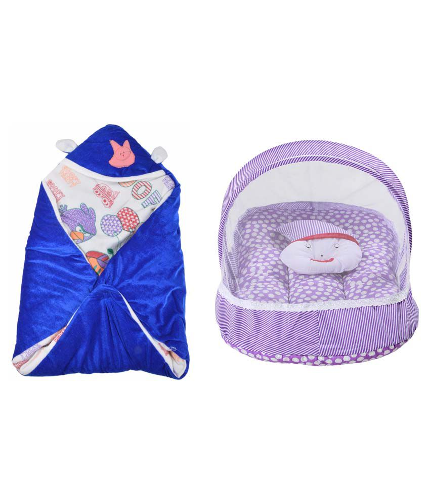 RSO Baby Bedding Mosquito Net & Reversable Baby Wrap Set Of 2