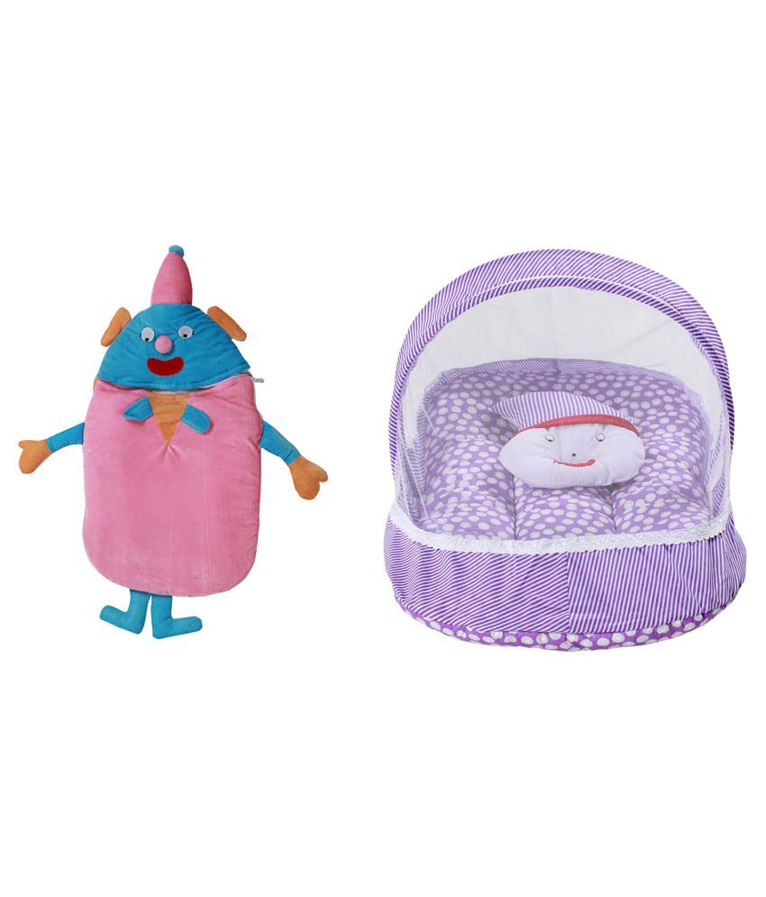 RSO Baby Bedding Mosquito Net & Baby Wrap Set Of 2