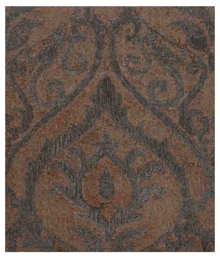 Rugs n more grey and orange floral woolen carpet buy for Rugs rugs and more rugs