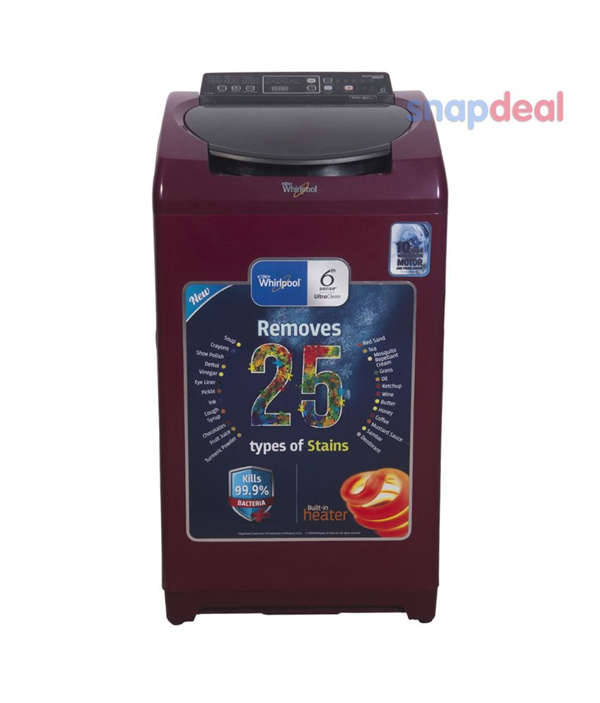 Whirlpool 7.2 SW ULTRA UL 72H Fully Automatic Top Load Washing Machine Red