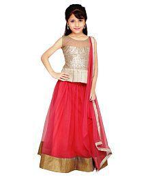 Najara Fashion Pink Net Lehenga Choli With Dupatta