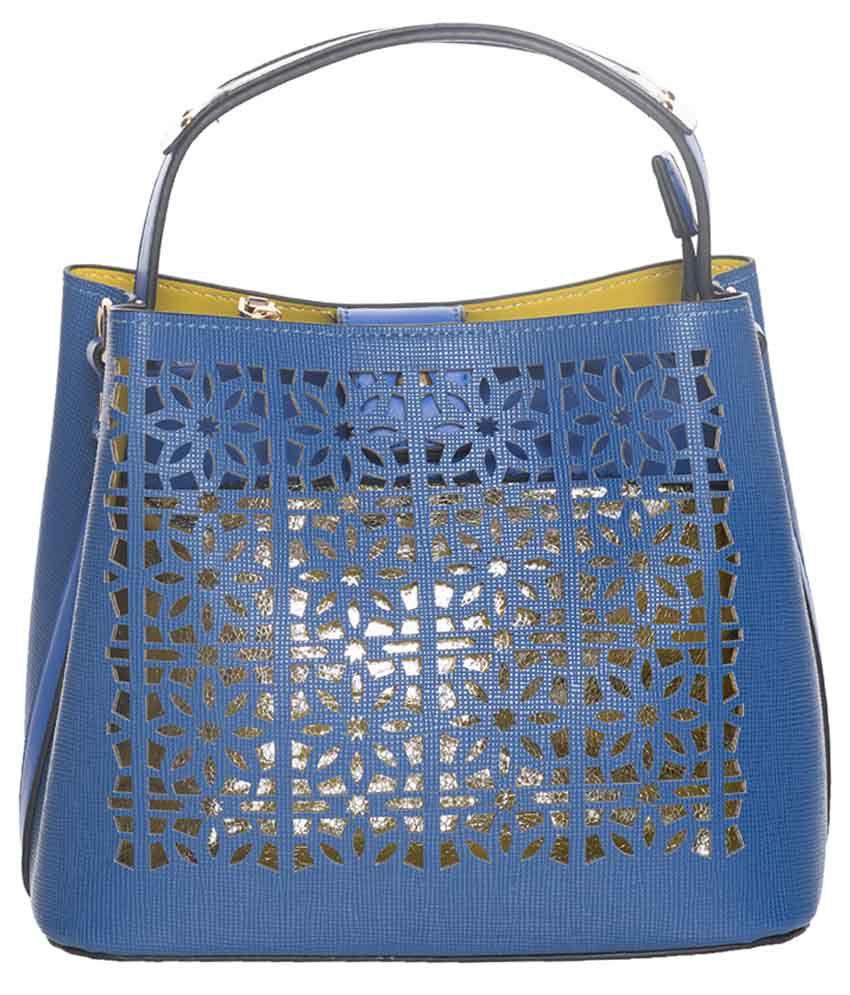 Elespry Blue P.U. Shoulder Bag